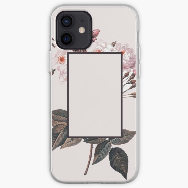Pink Rectangle Flowers iPhone Soft Case
