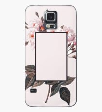Pink Rectangle Flowers Case/Skin for Samsung Galaxy