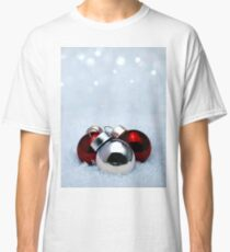 Christmas balls on snow Classic T-Shirt