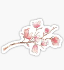 Watercolour Magnolia Sticker