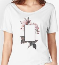 Floral Rectangle Logo Women's Relaxed Fit T-Shirt