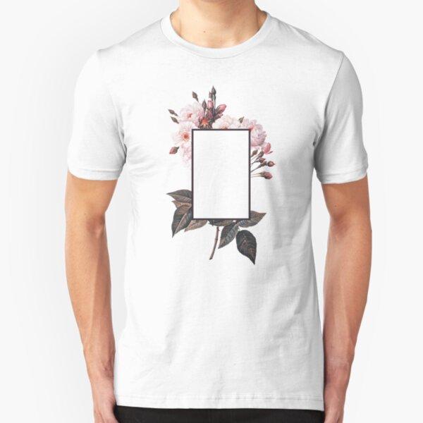 Floral Rectangle Logo Slim Fit T-Shirt