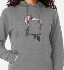Floral Rectangle Logo Lightweight Hoodie