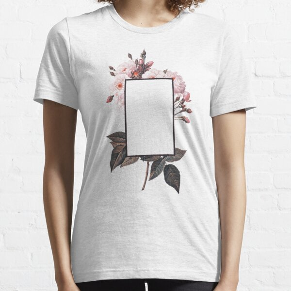 Floral Rectangle Logo Essential T-Shirt