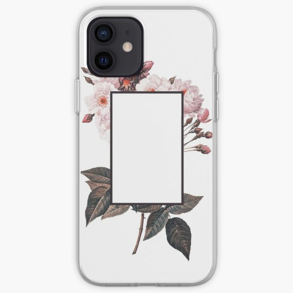 Floral Rectangle Logo iPhone Soft Case