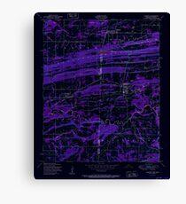 USGS TOPO Map Arkansas AR Hackett 258639 1951 24000 Inverted Canvas Print