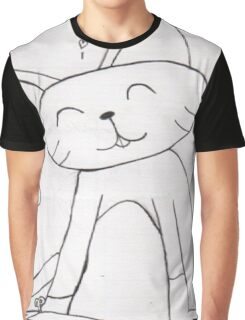 Pencil Cat  Graphic T-Shirt