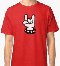 rock hand metal roll music Classic T-Shirt
