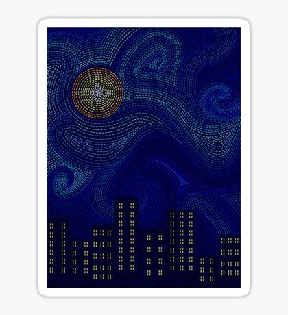 Dashed Night Sticker