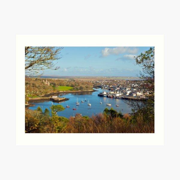 Stornoway harbour, Isle of Lewis Art Print
