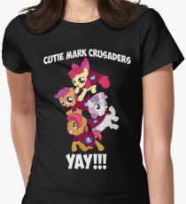 Cutie Mark Crusaders - YAY!!! Womens Fitted T-Shirt