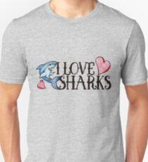 I love Sharks Unisex T-Shirt