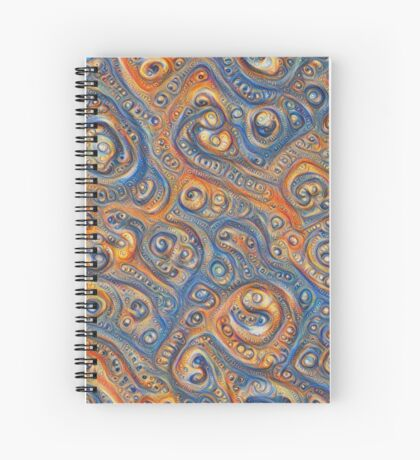 Blue Orange #DeepDream Spiral Notebook