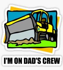 On Dads Crew Sticker