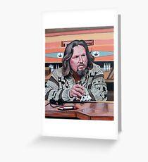 Jeffrey Lebowski Greeting Card