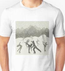 Skating rink on lake Unisex T-Shirt