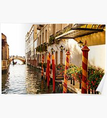 Impressions Of Venice - Signature Candy Stripped Paline Poster