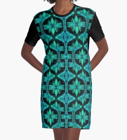 Shades of Turquoise Design Graphic T-Shirt Dress
