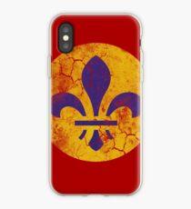 Vintage Grunge St Louis Missouri Fleur De Lis iPhone Case