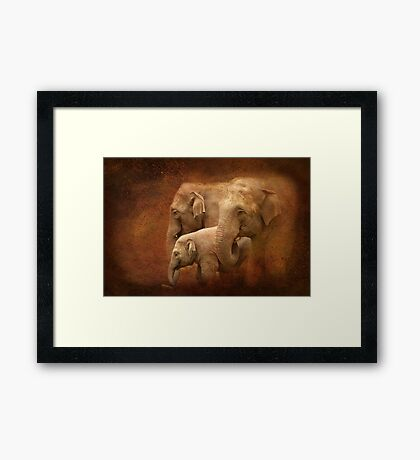 Three generations Framed Print