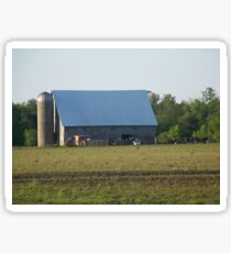 Pasture Gathering by the Barn Sticker