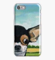 What's Going On? - Chihuahua dog portrait oil painting iPhone Case/Skin