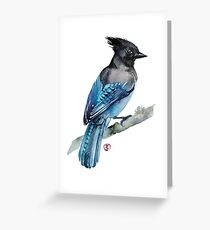 Black Jay Greeting Card