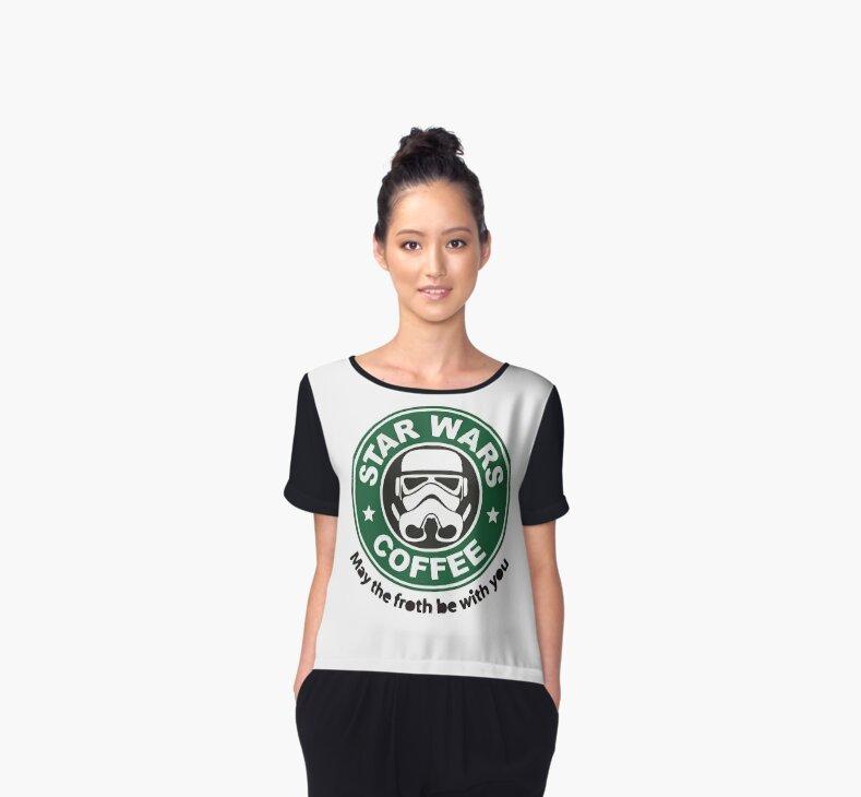 Starbucks Star Wars chiffon shirt
