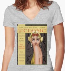 Gossip Mag Women's Fitted V-Neck T-Shirt