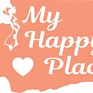 WASHINGTON STATE MY HAPPY PLACE TYPOGRAPHY SEATTLE SPOKANE TACOMA OLYMPIA LOVE 2 by MyHandmadeSigns