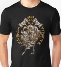 Sons of Odin - The Time is Now Fearless Soft Screen Printed Summer Graphic Gift Tshirt Unisex T-Shirt