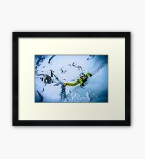 Cryotherapy Ice Climbing Framed Print