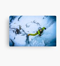 Cryotherapy Ice Climbing Canvas Print