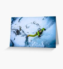 Cryotherapy Ice Climbing Greeting Card