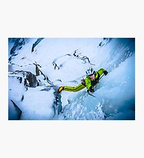 Cryotherapy Ice Climbing Photographic Print