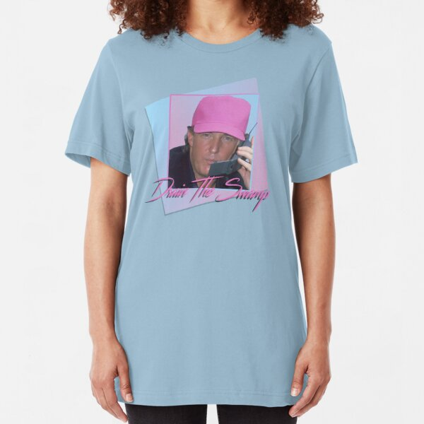Drain The Swamp - Donald Trump Vaporwave  Slim Fit T-Shirt