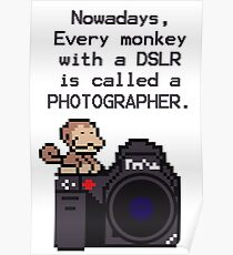 Every Monkey With A Camera Is Called a Photographer Poster