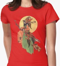 Autumn Witch Women's Fitted T-Shirt