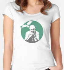 Sir David Attenborough Women's Fitted Scoop T-Shirt