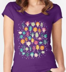 Night Forest Women's Fitted Scoop T-Shirt