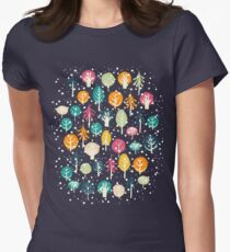 Night Forest Womens Fitted T-Shirt