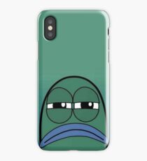 spongebob mad fish iPhone X Case