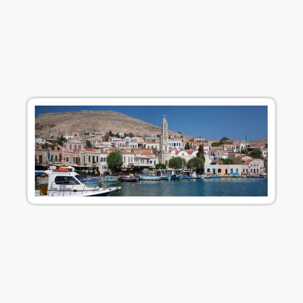 Sleepy Town and Harbour Sticker