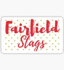 Fairfield Stags Gold Polka Sticker