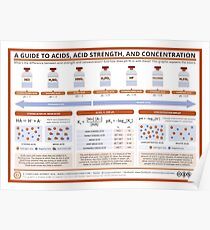 A Guide to Acids, Acid Strength, and Concentration Poster