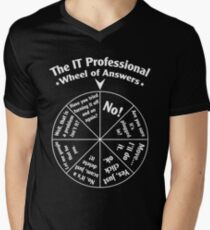 The IT Professional Wheel of Answers. Men's V-Neck T-Shirt