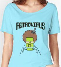 Camiseta ancha para mujer Retrovirus: virus viejo, nuevas aplicaciones