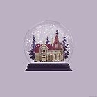 It's Christmas Time - Pixel Art Snow Globe by ricardojuchem
