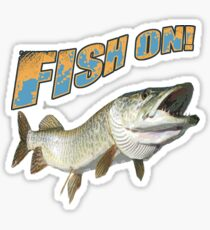 Fish on Musky color  Sticker