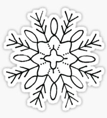 Pine Tree Star Snowflake  Sticker